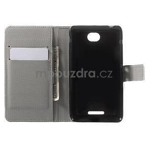 Peňaženkové puzdro pre Sony Xperia E4 - farební motýľe - 7