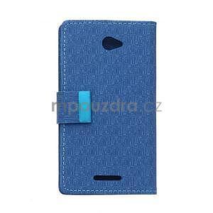 Vzorované pěněženkové pouzdro na Sony Xperia E4 - modré - 7