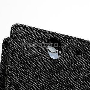Peňaženkové PU kožené puzdro pre Sony Xperia Z - čierne - 7