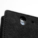 Peňaženkové PU kožené puzdro pre Sony Xperia Z - čierne - 7/7