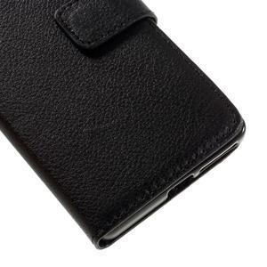 Leathy PU kožené puzdro na Sony Xperia E5 - čierne - 7