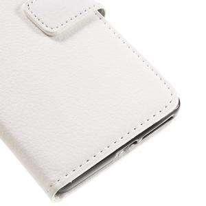 Leathy PU kožené puzdro na Sony Xperia E5 - biele - 7