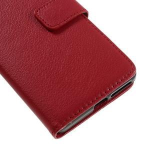 Leathy PU kožené puzdro na Sony Xperia E5 - červené - 7