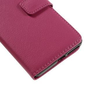 Leathy PU kožené puzdro na Sony Xperia E5 - rose - 7
