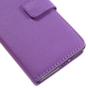 Leathy PU kožené puzdro pre Sony Xperia E5 - fialové - 7