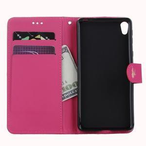 Motýlikové PU kožené puzdro na mobil Sony Xperia E5 - rose - 7
