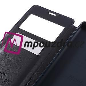Richi PU kožené puzdro s okienkom na Sony Xperia XA Ultra - tmavomodré - 7