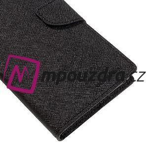 Diary PU kožené puzdro pre mobil Sony Xperia XA Ultra - čierne - 7