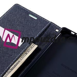 Diary PU kožené puzdro pre mobil Sony Xperia XA Ultra - azurové - 7