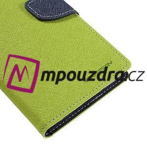 Diary PU kožené puzdro pre mobil Sony Xperia XA Ultra - zelené - 7