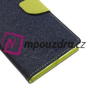Diary PU kožené puzdro pre mobil Sony Xperia XA Ultra - tmavomodré - 7