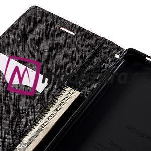 Diary PU kožené puzdro pre mobil Sony Xperia XA Ultra - hnedé - 7