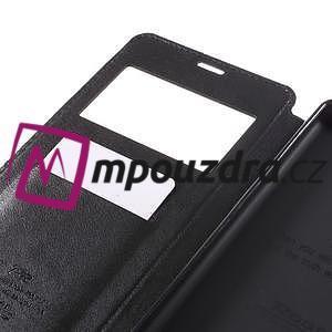 Richi PU kožené puzdro s okienkom na Sony Xperia XA Ultra - čierne - 7