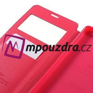 Richi PU kožené pouzdro s okýnkem na Sony Xperia XA Ultra - rose - 7