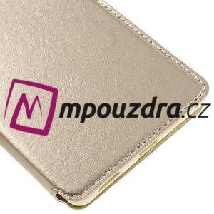 Richi PU kožené puzdro s okienkom na Sony Xperia XA Ultra - zlaté - 7