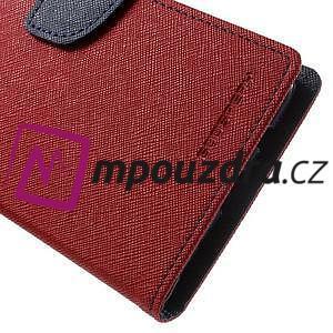 Diary PU kožené pouzdro na mobil Asus Zenfone 3 Deluxe - červené - 7
