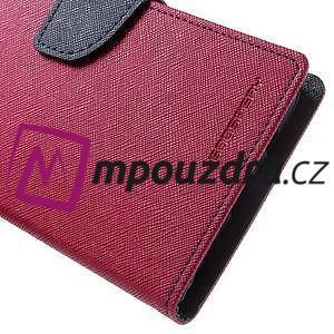 Diary PU kožené puzdro pre mobil Asus Zenfone 3 Deluxe - rose - 7