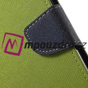 Diary PU kožené puzdro pre mobil Asus Zenfone 3 Deluxe - zelené - 7