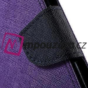Diary PU kožené puzdro pre mobil Asus Zenfone 3 Deluxe - fialové - 7