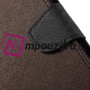 Diary PU kožené puzdro pre mobil Asus Zenfone 3 Deluxe - hnedé - 7