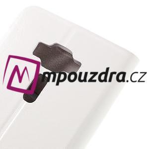 Horse PU kožené puzdro pre Asus Zenfone 3 Deluxe - biele - 7
