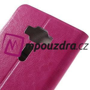 Horse PU kožené pouzdro na Asus Zenfone 3 Deluxe - rose - 7