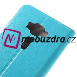 Horse PU kožené puzdro pre Asus Zenfone 3 Deluxe - modré - 7