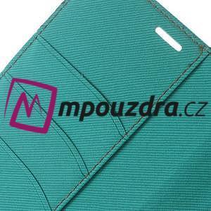 Diary peňaženkové pouzdro na mobil Asus Zenfone 3 Ultra - cyan - 7