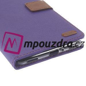 Diary peňaženkové puzdro pre mobil Asus Zenfone 3 Ultra - fialové - 7
