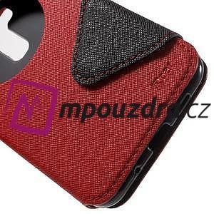 Diary puzdro s okýnkem na mobil Asus Zenfone 3 ZE520KL - červené - 7