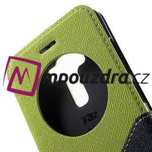 Diary puzdro s okýnkem na mobil Asus Zenfone 3 ZE520KL - zelené - 7