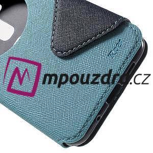Diary puzdro s okýnkem na mobil Asus Zenfone 3 ZE520KL - světlemodré - 7