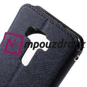 Diary puzdro s okýnkem na mobil Asus Zenfone 3 ZE520KL - tmavěmodré - 7