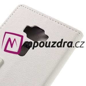 Leathy peňaženkové puzdro na Asus Zenfone 3 ZE520KL - biele - 7