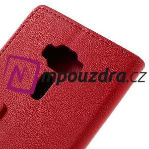 Leathy peňaženkové puzdro pre Asus Zenfone 3 ZE520KL - červené - 7