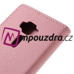 Leathy peňaženkové puzdro na Asus Zenfone 3 ZE520KL - růžové - 7