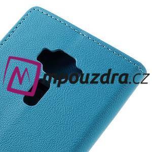 Leathy peňaženkové puzdro pre Asus Zenfone 3 ZE520KL - svetlomodré - 7