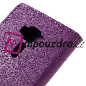 Leathy peňaženkové puzdro pre Asus Zenfone 3 ZE520KL - fialové - 7