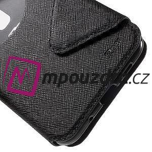 Diary puzdro s okýnkem na mobil Asus Zenfone 3 ZE520KL - čierne - 7