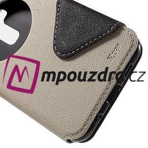 Diary puzdro s okýnkem na mobil Asus Zenfone 3 ZE520KL - biele - 7