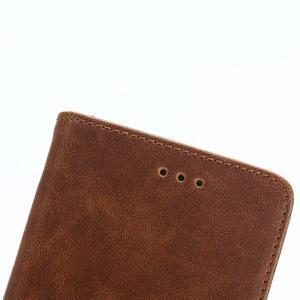 PU kožené peněženkové pouzdro na BlackBerry Leap - coffee - 7