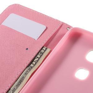 PU kožené puzdro pre mobil Honor 5X - púpava - 7