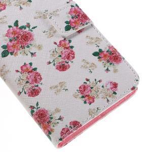 PU kožené pouzdro na mobil Honor 5X - květiny - 7