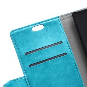 Horse peněženkové koženkové pouzdro na Huawei Honor 5X - modré - 7