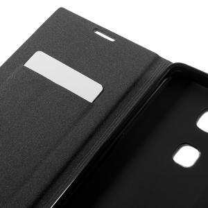 Klopové PU kožené pouzdro na Huawei Honor 5X - modré - 7