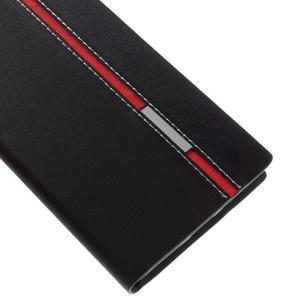 Klopové PU kožené puzdro pre Huawei Honor 5X - čierne - 7