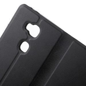 Peněženkové PU kožené pouzdro na mobil Honor 5X - černé - 7