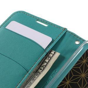 Style PU kožené puzdro pro LG K10 - zelenomodré - 7