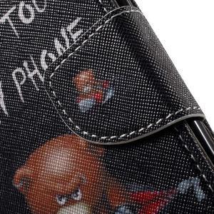 Wall peňaženkové puzdro pre LG K10 - medvedík - 7