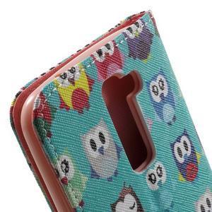 Wall peňaženkové puzdro pre LG K10 - malej sovy - 7